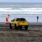 Nissan on patrol Piha Beach